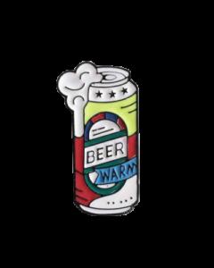 enamel pin warmes bier