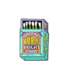emanel pin matchbox with statement burn bright baby
