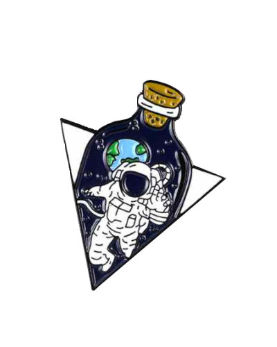 enamel pin cosmos space