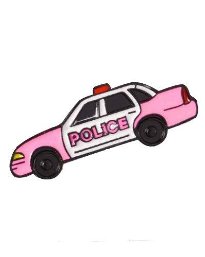 enamel pin police car pink