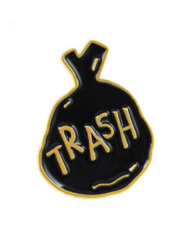 enamel pin Sack Mül trash