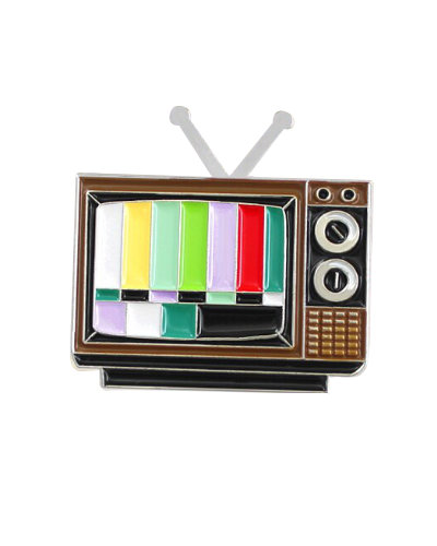metall pin tv set retro